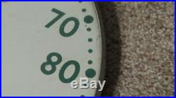 Original Vintage Cities Service Advertising Thermometer Sign Gas Oil and Garage