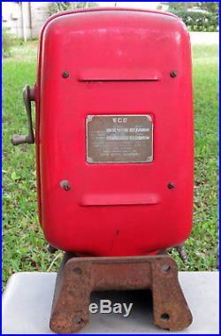 Original Vintage ECO Tireflator Air Meter #97 Bennett Pump Wall/Post Gas Oil