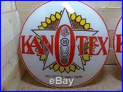 Original & Vintage Kanotex Gas Pump Lenses For Gill Body Globe Oil Advertising