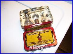 Original rare nos vintage Packard motor car Accessory division bulb kit can box