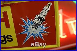 Original vintage tin sign Embossed Metal Sign Bosch Gas Oil Auto Spark Plugs