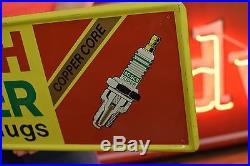 Original vintage tin sign Metal Sign Bosch SUPER Gas Oil Auto Spark Plugs RARE