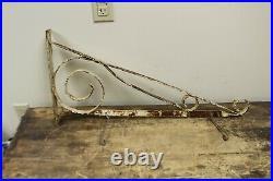 Ornate 30 Vintage 1940s Hanging Bracket For 2 Sided Soda Gas Oil Porcelain Sign