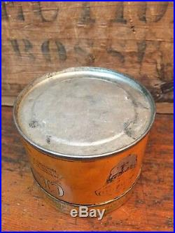 RARE Early 1900s Vintage OilZum Man Motor Oil CleanZum Old Graphic Tin Oil Can
