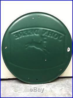 RARE! John Deere Vintage Embossed Metal Sign Case Porcelain Tractor Oil