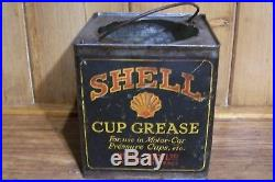 RARE SHELL MEX CUP GREASE TIN SHELL MEX LTD KINGSWAY c1920/30 VINTAGE OIL/PETROL