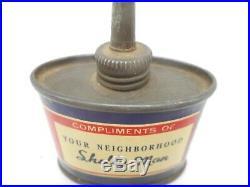 RARE Vintage 2 oz SKELLY OILSALL Motor Oil Advertising Handy Oiler Can