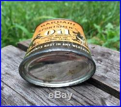 RARE Vintage BARDAHL Sportsmen's Oil Guns Fishing Tackle Tin Can Cool GRAPHICS