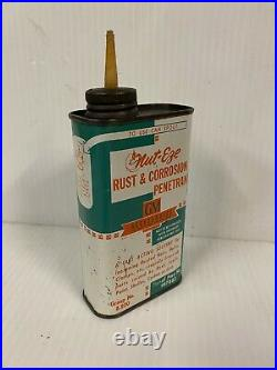 RARE! Vintage GM Accessories Nut-Eze Rust & Corrosion General Motors Oil Can