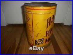 RARE Vintage HANCOCK 5 Quart Station Pennsylvania Motor Oil Tin Advertising Can