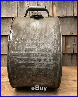 RARE Vintage HERMOLINE Oil Herring-Wissler 5 Gallon Gasoline Station Rocker Can