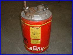 RARE Vintage Scorpion Snowmobile 61/4 US gallon Can Snowmobile Motor Oil Gas Can