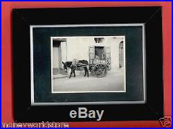 REAL PHOTO VINTAGE 1950's THE ESSO DONKEY, GOZOITALY, RODGER LEE, ESSO OIL, RARE