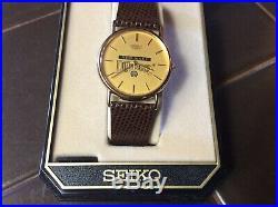 Rare SEIKO Shell employee GAS & OIL Promo Vintage SEIKO Men's Watch In Box