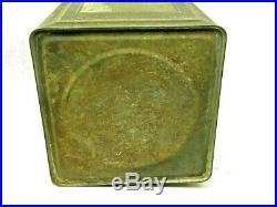 Rare Vintage 1920's Veedol 5 Gallon Tide Water Metal Motor Oil Can Gas Station