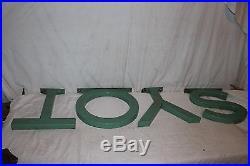 Rare Vintage 1940s Toys Macy's Department Store Gas Oil 50 Porcelain Metal Sign