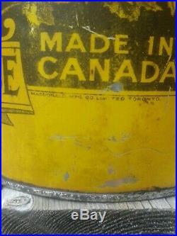 Rare Vintage Buffalo Prairie Cities Oil can