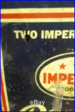 Rare Vintage Imperial 3 Star Polarine Motor Oil 2 Gallon Can