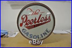 Rare Vintage Original Peerless Oil Gasoline Gas Pump Globe Only 1 Known NR
