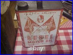 Rare Vintage Rebel Two Gallon Oil Can