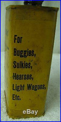 Rare Vintage Rega Coach Oil Tin Can Winnipeg Oil Co Buggies Sulkies Wagons NR