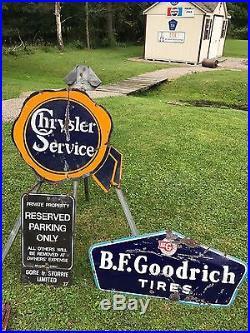 Rare vintage1930's BF Goodrich Tires Sign Gas Oil Service Station PORCELAIN