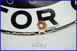 Red Indian Gasoline Motor Oil Vintage Porcelain Sign Gas Oil Lubester Pump Plate