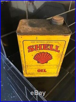 Shell Motor Oil 1 Imp Quart Early Vintage Oil Tin