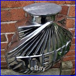 Shell Petrol Pump Globe Aluminium Cast Oil Vintage Garage double sided VAC219