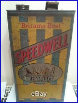 Speedwell Motor Oil Can / Tin Vintage