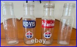 Standard Oil Co. (Indiana) Vintage Original Oil Bottles 1940's 1950's Era All 4