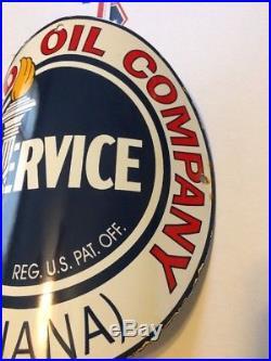 Standard Oil Company Visible Gas Pump Sign Service Porcelain Antique Vintage