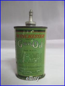 VINTAGE ADVERTISING WINCHESTER GUN OIL 3 oz. LEAD TOP OILER, EMPTY, 313-Z