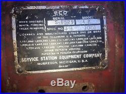 VINTAGE Eco Air Meter Model 32 Air Hose Reel Gas Oil Service Station