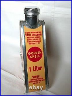 VINTAGE OIL TRIANGULAR CAN 1pc SHELL, AEROSHELL, MOBILOIL GARGOYLE, REPRODUCTION