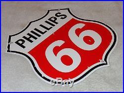 VINTAGE PHILLIPS 66 11 3/4 PORCELAIN GAS & OIL SIGN