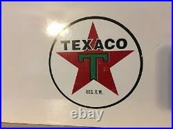 VINTAGE TEXACO CALIFORNIA INC. SIGN GAS OIL PORCELAIN PUMP PLATE SERVICE Logo