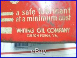VINTAGE TWO GALLON STAR SERVICE Station OIL CAN Whiting Petroleum Delahaye