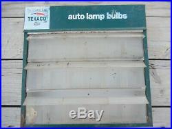VTG TeXaco Oil GAS Service Station Auto Lamp Bulb Display Cabinet Sign ORIGINAL
