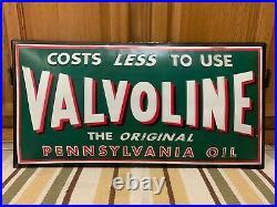 Valvoline Pennsylvania Oil Sign Motor Gas Pump Station Garage Vintage Style Pub