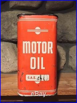 Very Rare Vintage Autoplane 2 Gallon Motor Oil CAN Two Gallon, Oil Can Rare