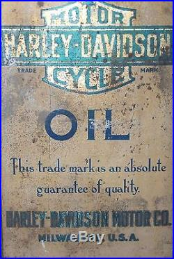 Very Rare Vintage Harley Davidson 5 Gal Oil Can Patent June 1st 1909