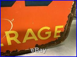 Vintage 1930's/40sOrange Crush Metal Sign Embossed SODA COLA Gas Oil