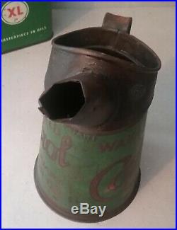 Vintage 1930's Castrol Oil Wakefield Quart Jug & XL Oil Can