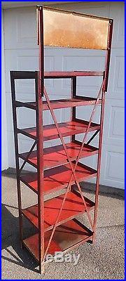 Vintage 1930's KENDALL Oil Can Display Rack Stand Gas Station Sign ORIGINAL