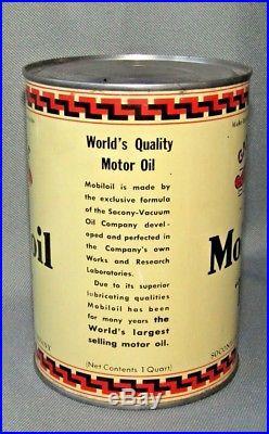 Vintage 1930's Mobiloil Gargoyle Socony BB 1 Quart Oil Can Mobil