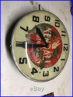 Vintage 1940-50s Kendall Motor Oil Rare Advertising Light Up Clock No Cord