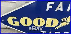Vintage 1948 Goodyear Farm Tires Porcelain Advertising Sign Gas Oil Soda