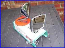 Vintage 1950-60s Yankee auto mirrors with store Display gas oil gm chevy hot rod