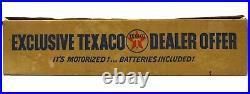 Vintage 1960's Texaco Gas North Dakota Oil Tanker Ship Battery Op withBox & Works